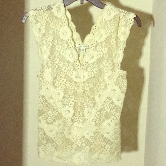Banana Republic Tops - All lace see through white color blouse